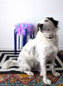 These super fun & easy furry stacking stools are the perfect 15-minute DIY solution for extra seating in a kid's room or the den!