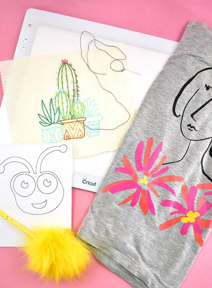 Wondering what crafts you can do with a Cricut Brightpad? Weeding vinyl is a great and obvious use, but check out these other crafts that work great, too!