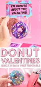 Donut you know? Donut Valentines are the most perfect Valentines of all time! Guaranteed, the kiddos are going to like them a HOLE bunch!