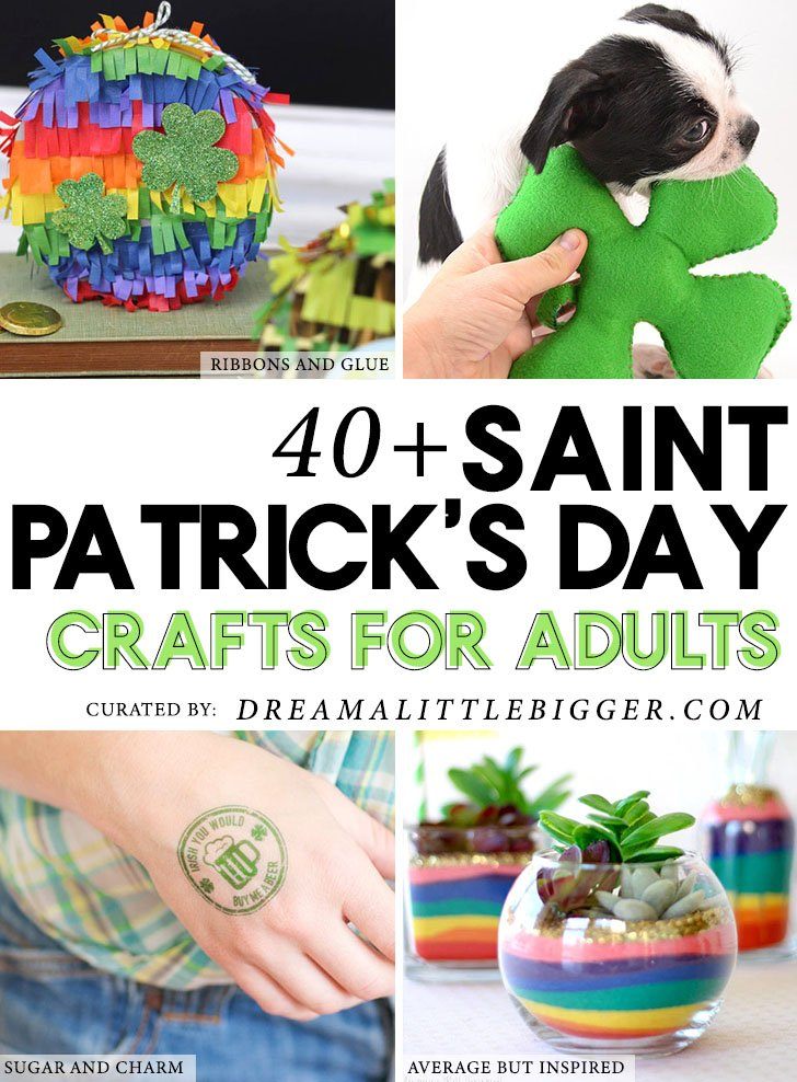 Finding good St. Patrick's Day crafts that are awesome and mature enough for adult crafters isn't easy. Today we've rounded up 20 of our favorite St. Patrick's Day Crafts for Adults!