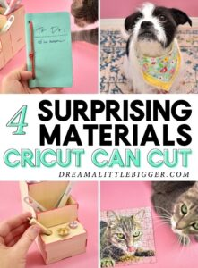Wondering what you can cut with your Cricut Maker? More like what CAN'T you cut! Check out these 4 kind of surprising materials the Cricut Maker will cut like a DREAM!
