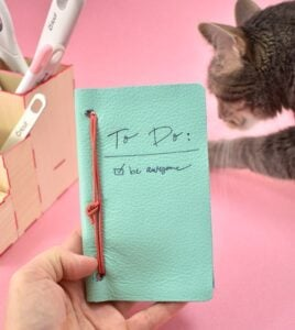 Always wanted your own personalized leather notebook? It turns out they are SUPER easy to make. Check it out!