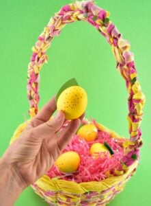 These easy and adorable lemon eggs are too kitschy cute to not make! Plus learn our hack for the EASIEST way to dye Easter eggs, hands down!