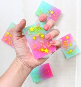 Check out these gorgeous, colorful and sometimes totally surprising soaps that you can make with easy to follow tutorials!