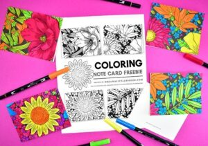 Holidays come up on me so quickly! I LOVE these free floral notecards I can print off and color. I'm going to print up a bunch and let the kids color them so we have a stash of ready to go cards for any occasion!