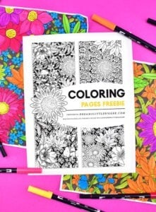 These JUMBO floral coloring pages come in 3 sizes up to 2 by 3 FEET and make the prettiest DIY gift wrap (among other things!)