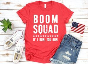 If you love fireworks you're going to love this patriotic tee that everybody will be talking about at your Fourth of July cookouts and parties! #boomsquad