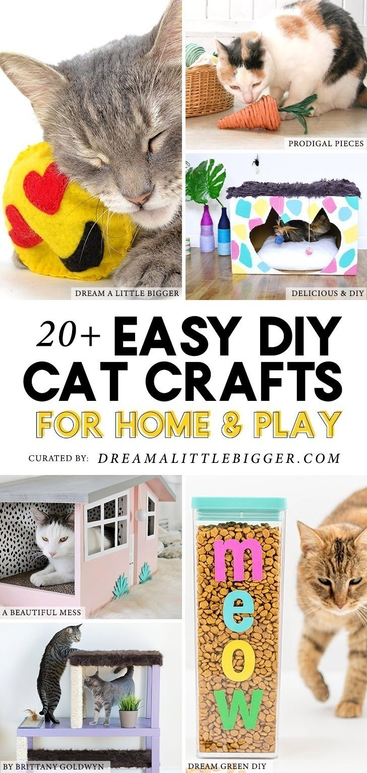 20 Cat Crafts And Diy Projects For Play And Home Dream A Little