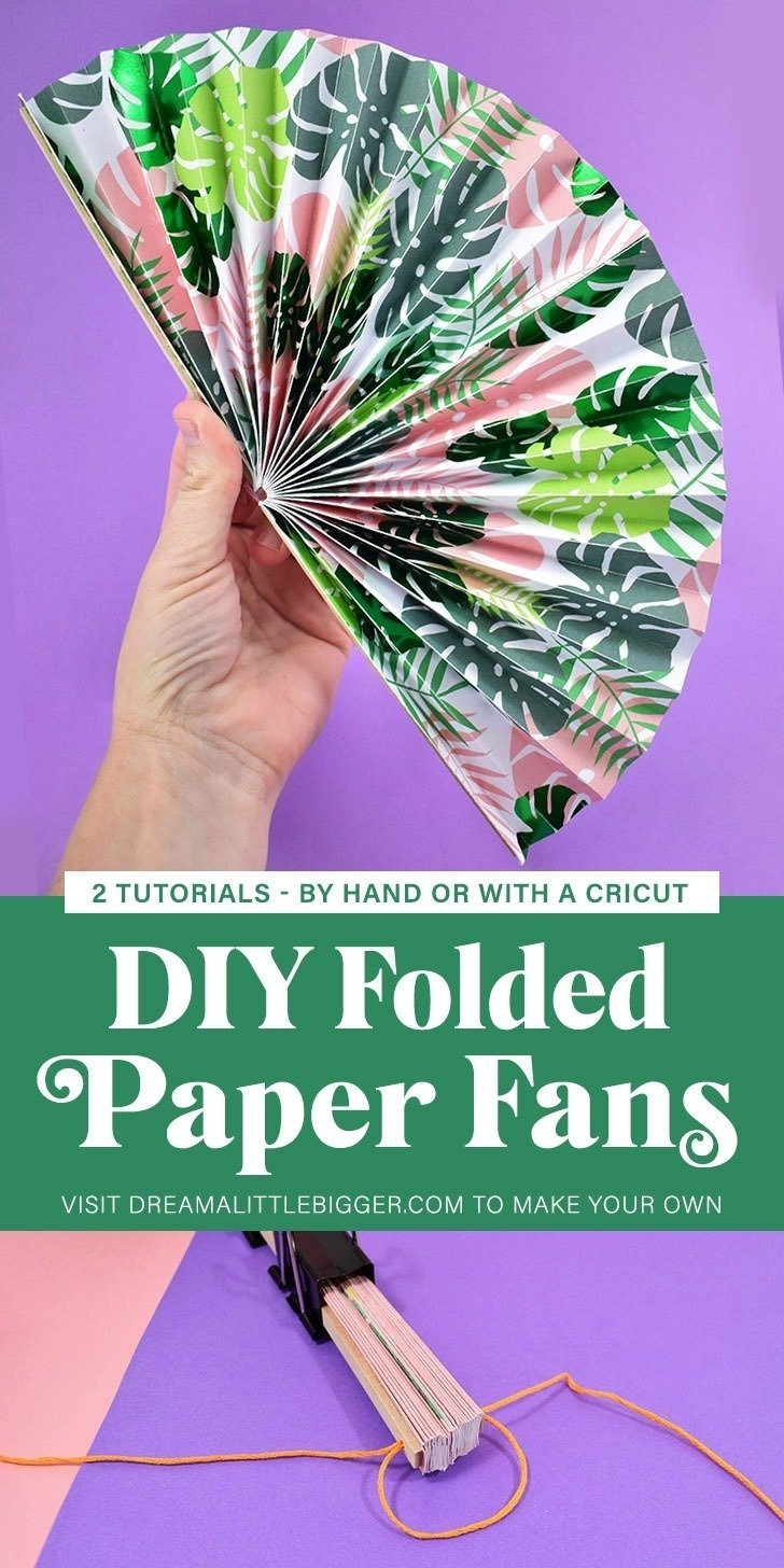 DIY Folding Paper Fans Tutorial ⋆ Dream a Little Bigger