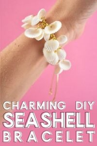 Love collecting seashells? This DIY seashell bracelet is such a fun charm bracelet is super simple and the perfect accessory for those beach days and a great way to use those collected shells!
