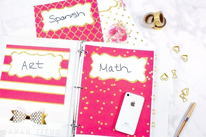 Snag these free binder dividers by Sara Titus and keep your school things organized.