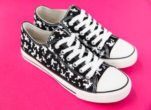 Composition Notebook Sneaker DIY tutorial and cut file available at A Pumpkin and a Princess.