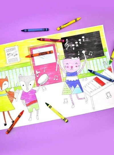 Download these free back to school coloring pages!