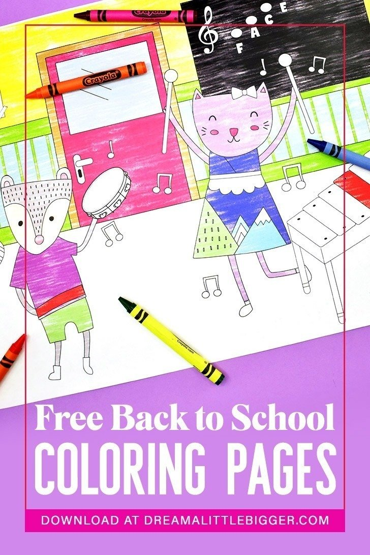 550 Top Free Coloring Pages Of Back To School , Free HD Download