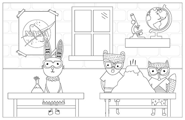 Back to School Coloring Pages Printable ⋆ Dream a Little Bigger