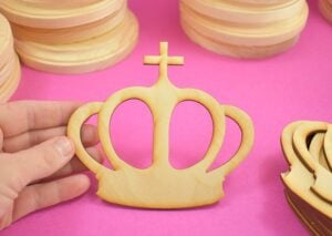These wood crowns are the perfect size and shape to make DIY giant checkers.