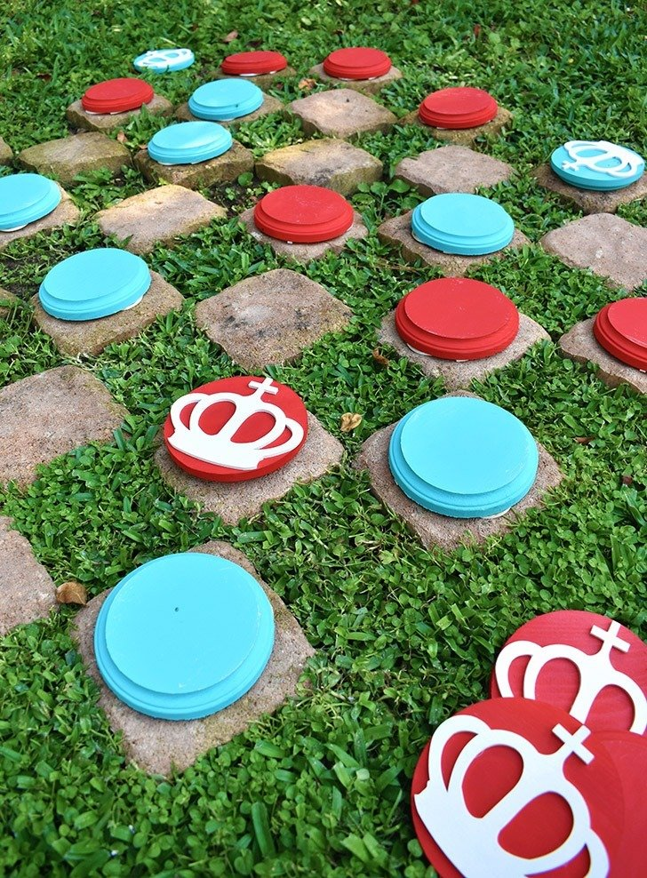 If you love big fun you're going to adore these DIY giant checkers. They are super easy to make and provide so much fun and quality one-on-one time!