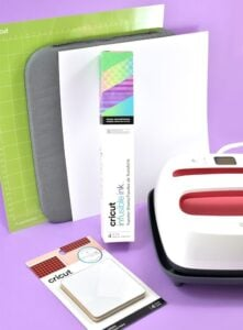 These are the supplies you'll need to make a set of Cricut Infusible Ink coasters.