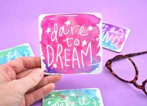 Can you believe these coasters are DIY? Get amazingly professional results using Cricut Infusible Ink.