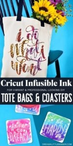 Achieve amazing looking DIY results with Cricut Infusible Ink for homemade tote bags and coasters. They're amazing gifts!