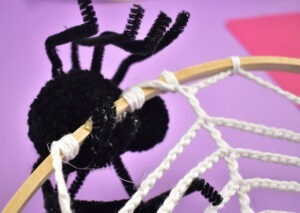 When applying directly to the hoop you can use extra pipe cleaner pieces to reinforce the bond.
