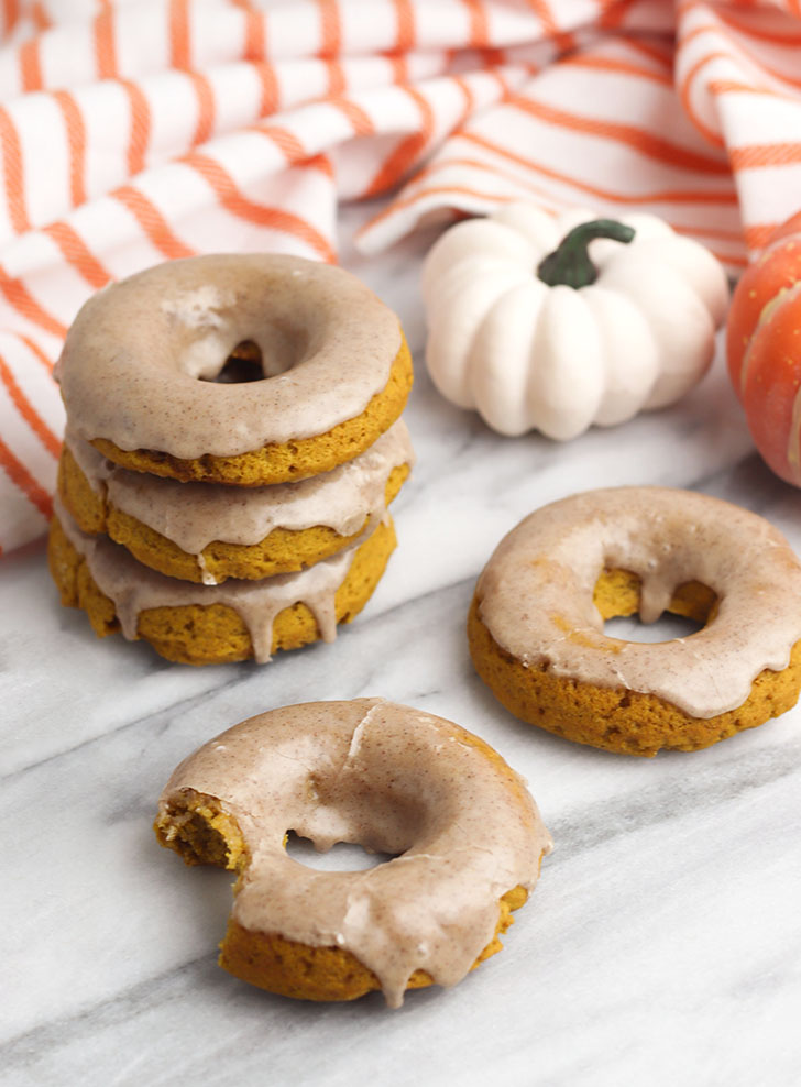If you love all things pumpkin spice, you're in for a treat! These pumpkin spice donuts with a spiced glaze are the perfect fall treat.