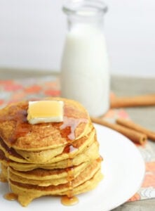 Using pancake mix, these gluten free pumpkin spice pancakes aren't just amazing, they're also quick and easy!