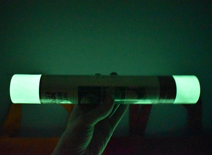 Look at how well Sister Glow in the Dark HTV glows. Amazing!