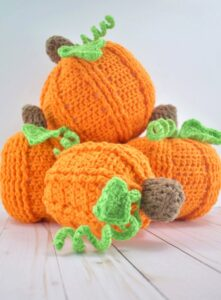 Whip up some adorable crochet pumpkins with this free pattern with FOUR different variations!