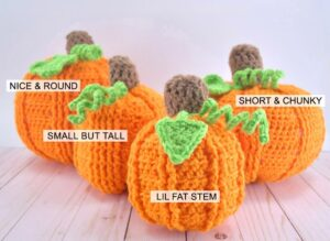 Our 4 crochet pumpkins are all similar but a little bit different. Grab all 4 of the different patterns in one PDF.