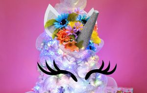 Isn't this DIY unicorn tree topper too much fun? It's also super easy to make!