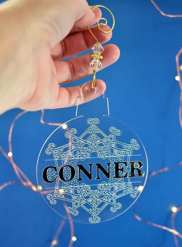 engraved christmas ornaments with cricut maker dream a little bigger engraved christmas ornaments with