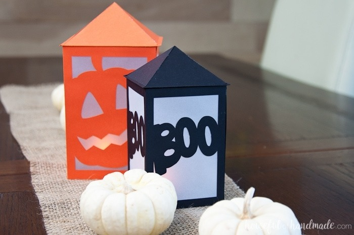 Halloween Crafts for Adults - Paper Lanterns by Houseful of Handmade