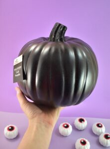 I purchased my black craft pumpkin because I like this stem better than what was available at Michael's