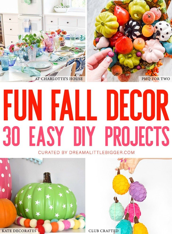 Why go muted just because the seasons change? Check out these amazing and colorful fall decor ideas that will make you thankful for color!