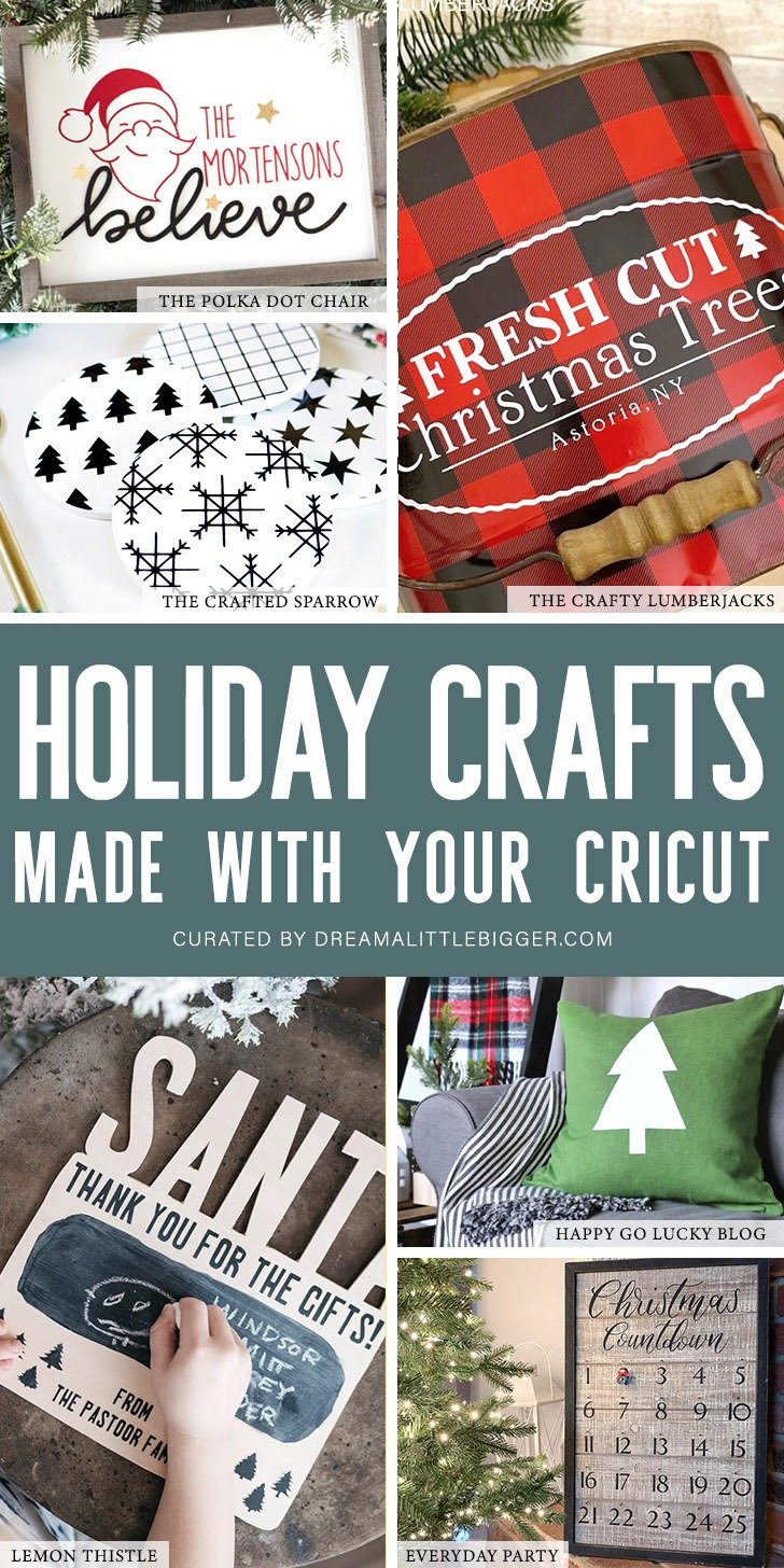 These Cricut Holiday Crafts are all so gorgeous and simple to make with your Cricut cutting machine. Grab your Cricut Air 2 or Maker & check them out!