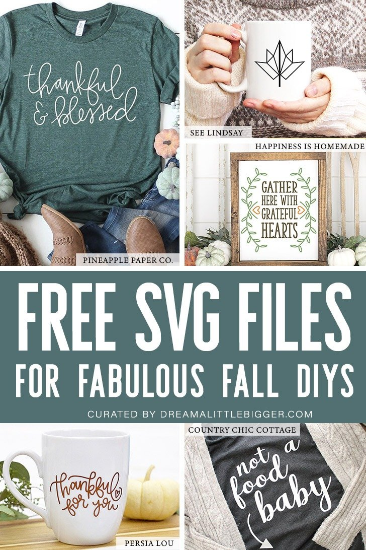 Looking for some fabulous but free fall SVG files? We've rounded up over 20 that you're going to want to use to make wearables, home decor & more!