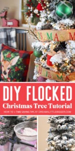 Learn how to flock an artificial Christmas tree.
