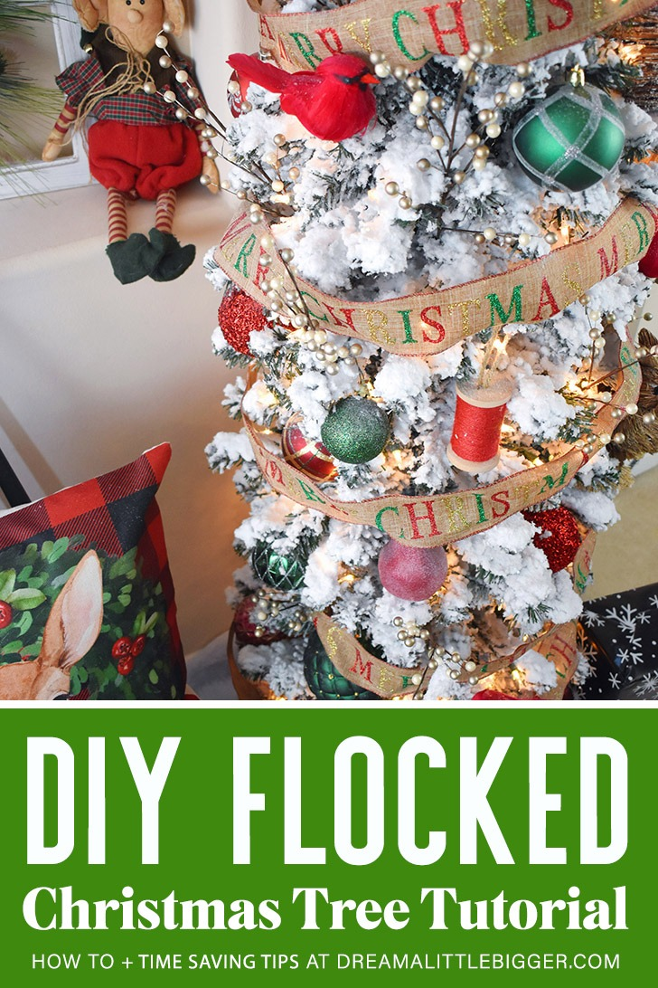 Learn how to flock a Christmas tree yourself. Though messy, it's easy to do and brings new life to old or ugly artificial Christmas trees.