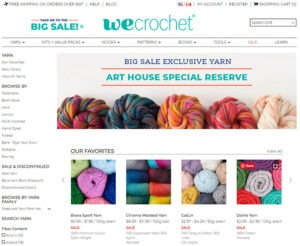 My sponsor for this post, We Crochet has a stunning array of colors, weights and fiber contents.