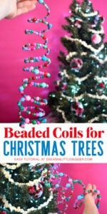 Add a little bit of flash and interest to your Christmas tree with these DIY beaded coils. They're springy, unique and simple to make!