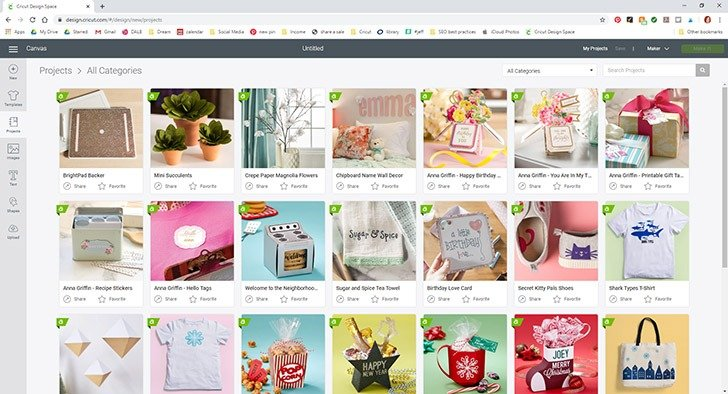 There are lots of pre-made digital projects in Cricut Design Space ready to cut without any design experience necessary