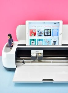 There are apps available in the Google Play Store (for Android) and the Apple Store so you can use the Cricut software on your mobile device or tablet. How cool is that?