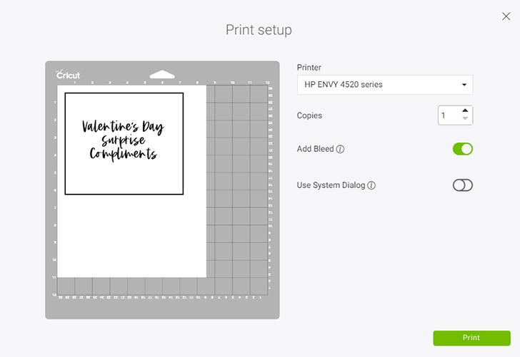 Print your sheet and apply to your blue LightGrip cutting mat.