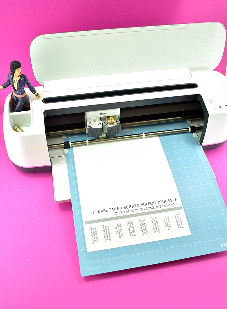 You'll first need your Perforation Blade to make the perforated line followed by the regular cutting blade.