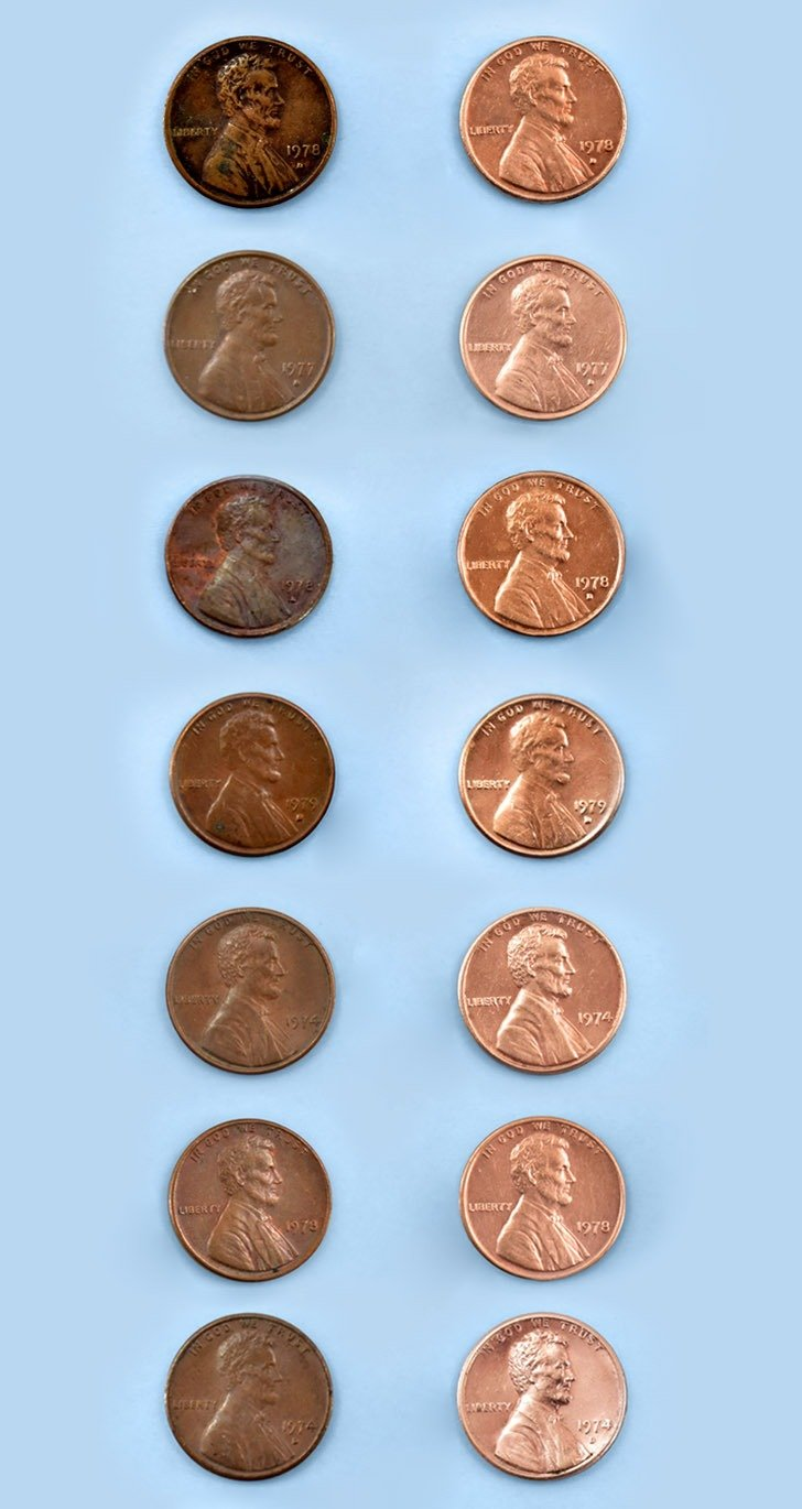 There are a lot of ways to clean pennies with stuff you already have at home!