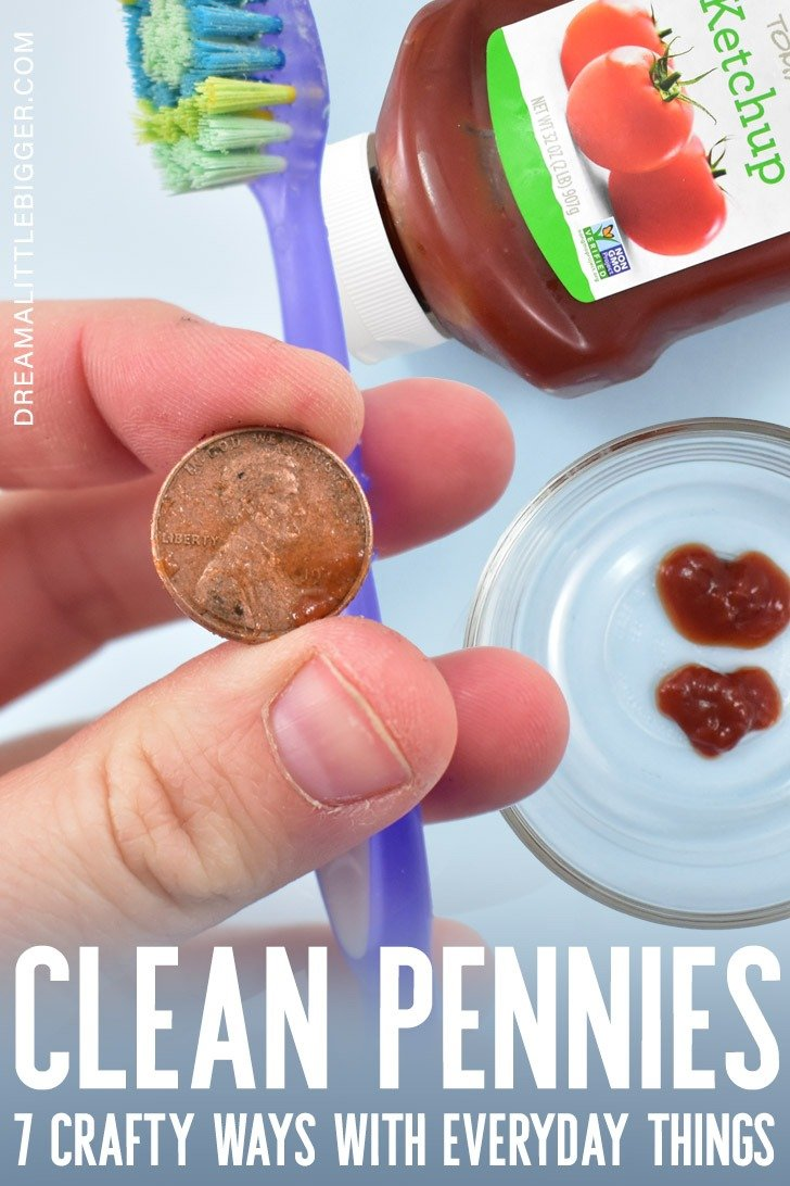 Dirty pennies got you down? We have 7 brilliant ways to clean pennies for crafts with stuff you already have at home!