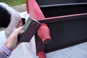 Different parts of a furniture piece require different methods of sanding.