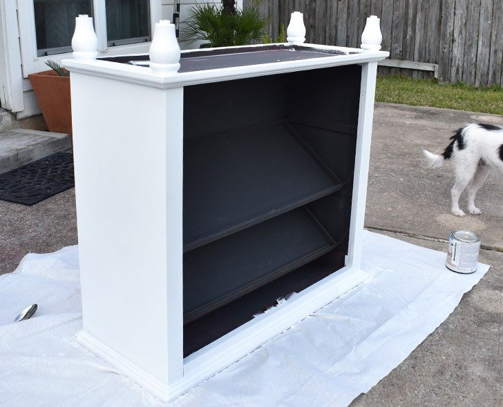 To paint your furniture's legs without unsightly drips, flip the furniture piece over.