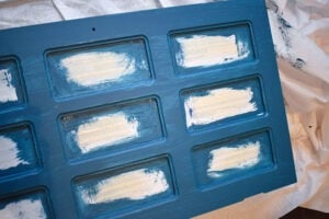 The bristles of a paint brush will always leave behind a streaky texture.